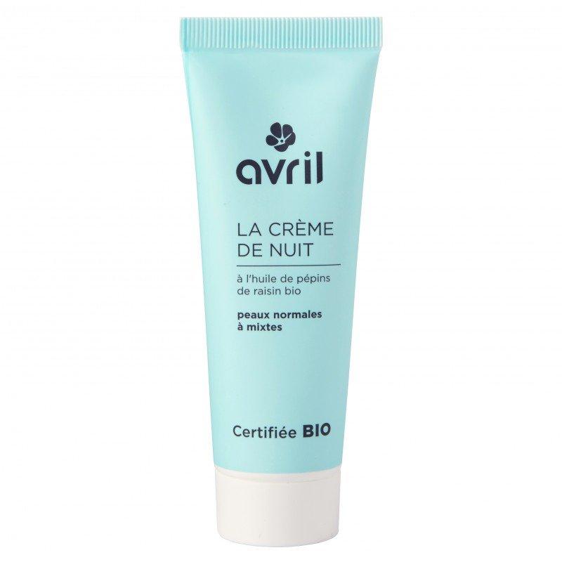 Crema notte biologica pelli normali e miste Avril