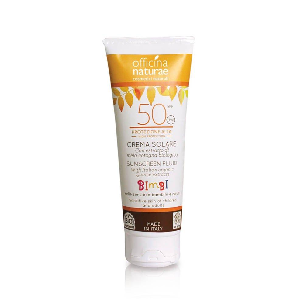 Crema solare Bio per bambini Protezione SPF50