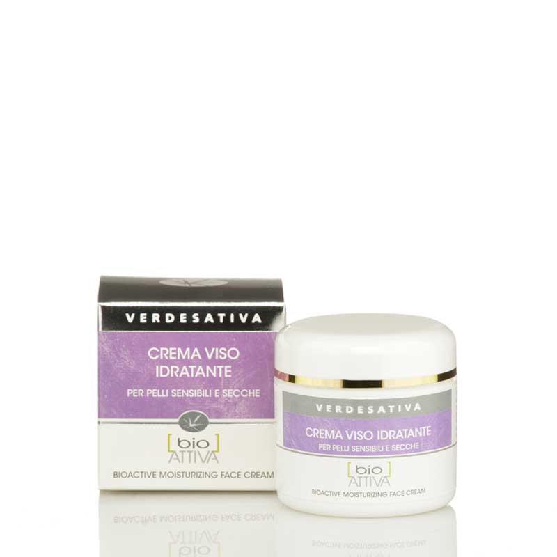 Crema viso idratante pelli sensibili e secche Bio Vegan Verdesativa