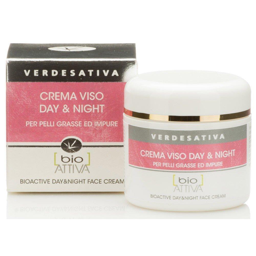 Crema viso pelli grassi e impure Day&Night Bio Vegan Verdesativa