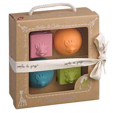 Set cubi e palline colorati in caucciù Sophie