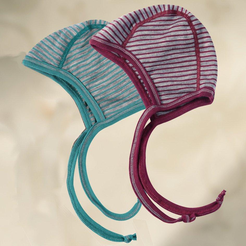 Cuffietta baby in lana biologica e seta