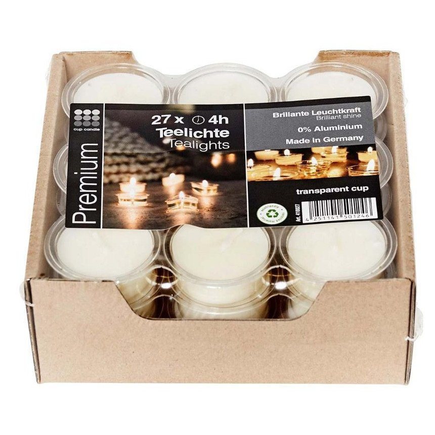Cup tealights made of soy wax - 27 pcs