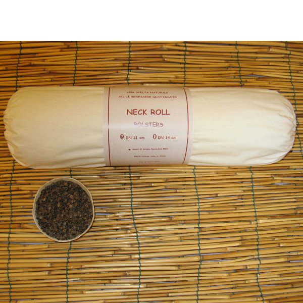 Neck Roll 11x40 in pula di Grano Saraceno