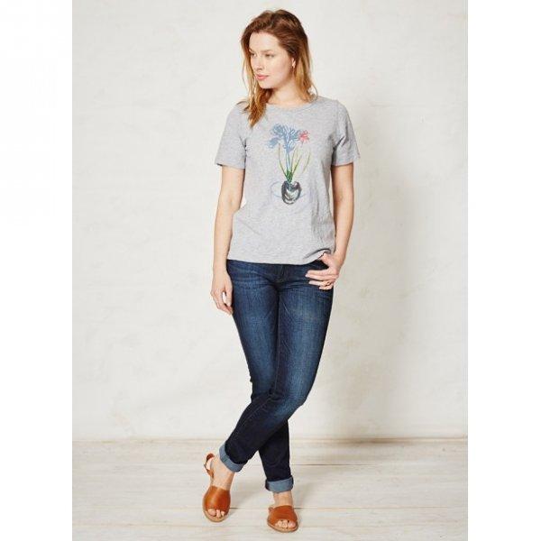 Denim woman indigo in organic cotton