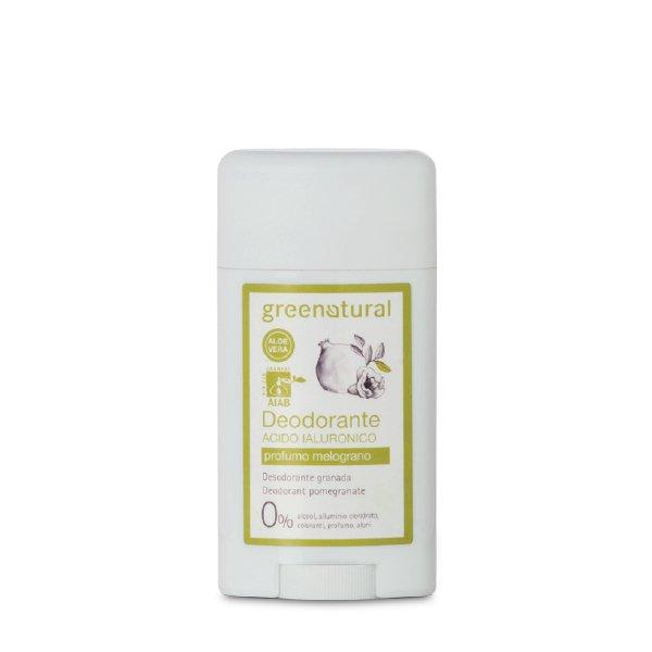Deodorante gel all'acido ialuronico al profumo di Melograno