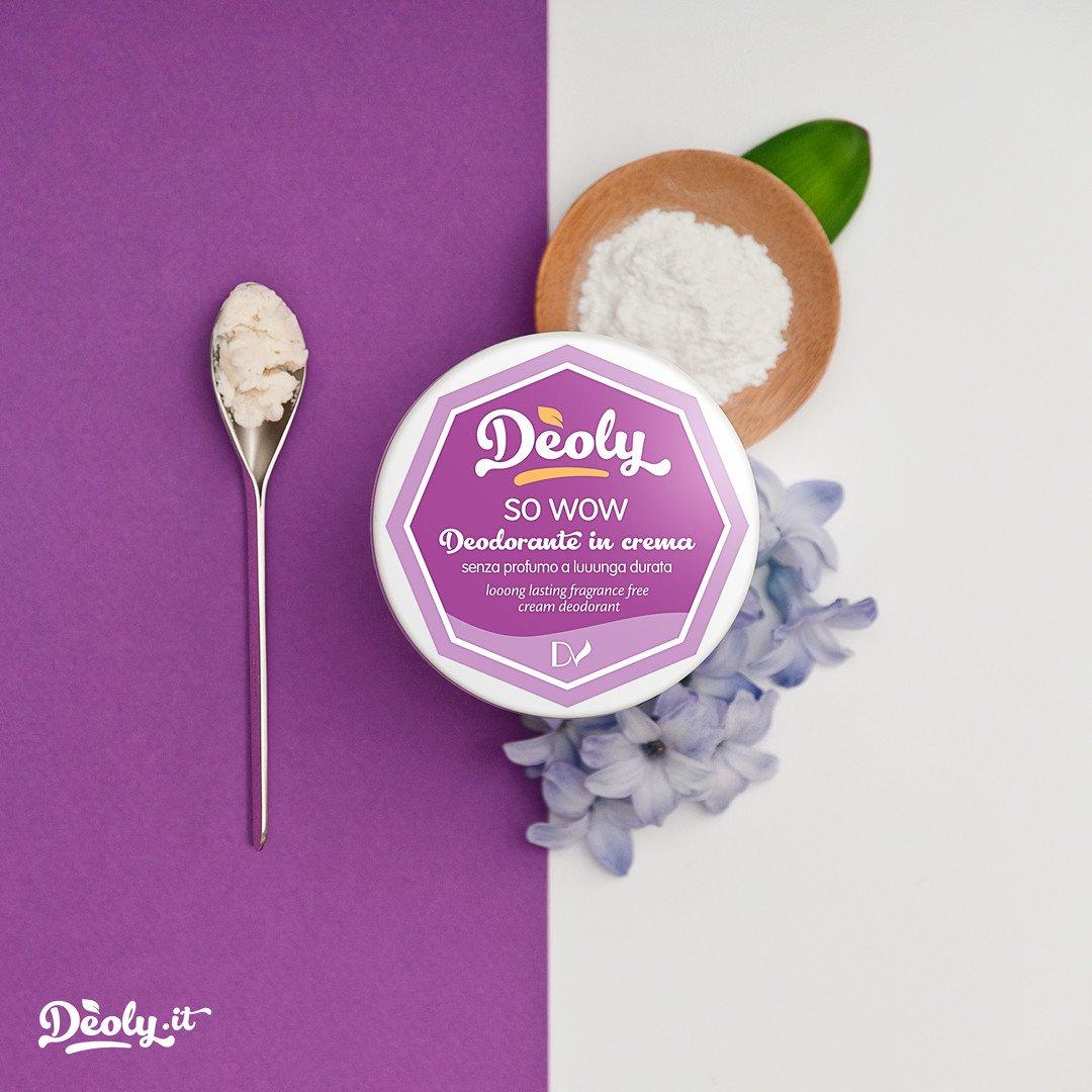 Deodorante in crema Deoly SO WOW senza profumo a lunga durata