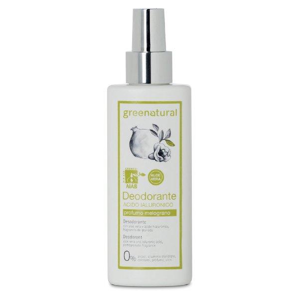 Deodorante spray no gas all'acido ialuronico al profumo di Melograno