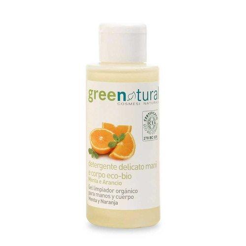 Detergente mani e corpo eco-bio alla Menta e Arancio - 100ml