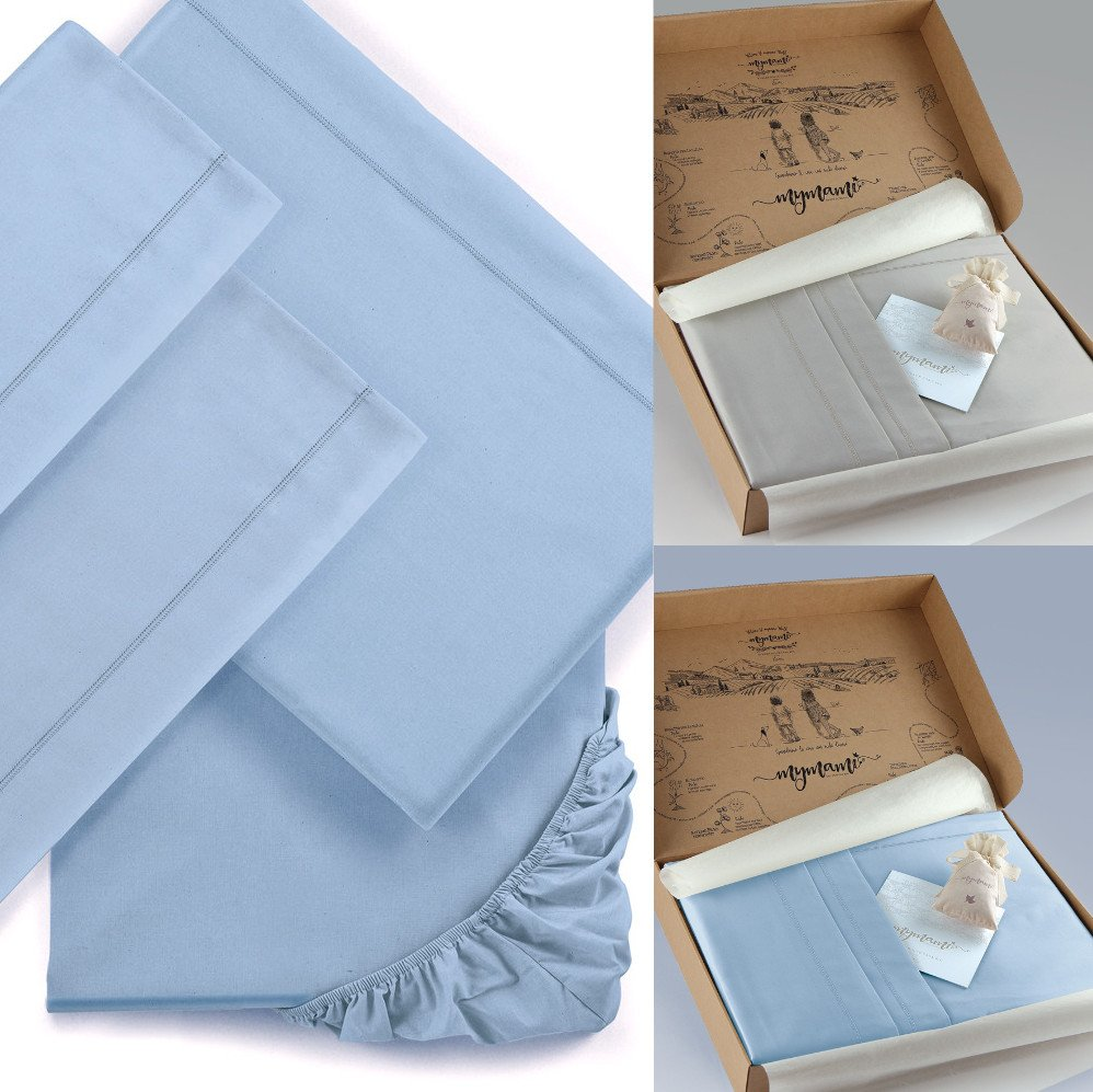 Double bed sheets Mymami in Organic cotton Coloured