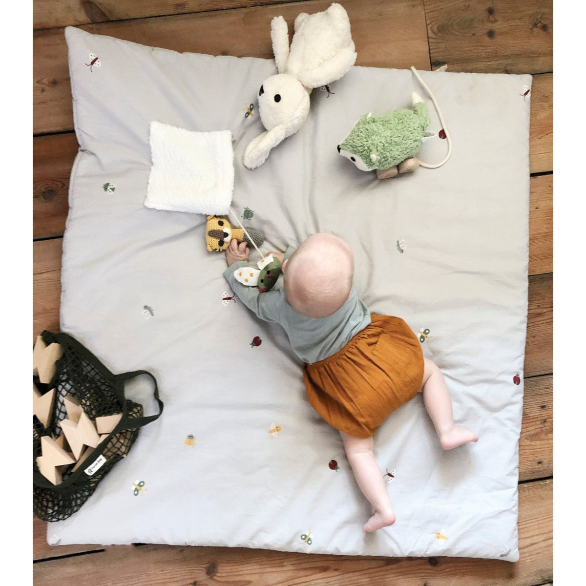 Pusling quilted play mat in organic cotton