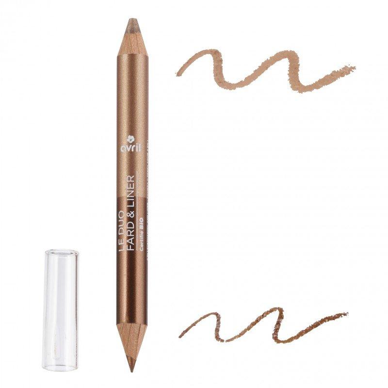 Duo ombretto e matita Bronze cuivre/Beige doré biologico