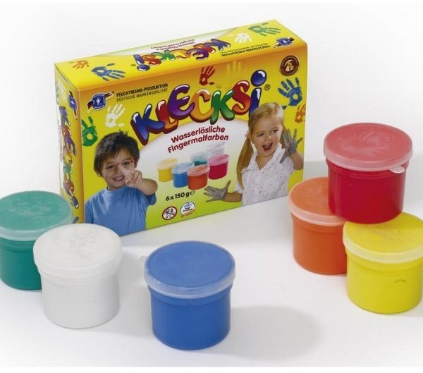 Ecological finger paints - 6 jars