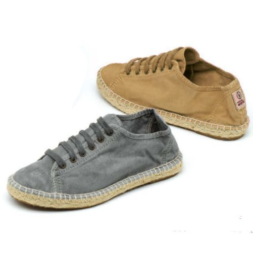 Espadrilla Basket shoes in organic cotton canvas and jute