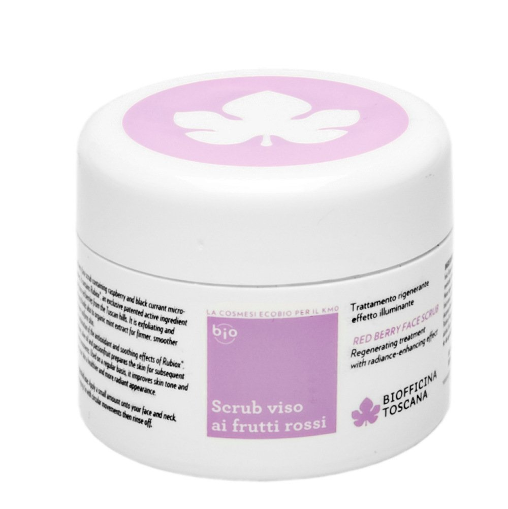 Face scrub with red berry