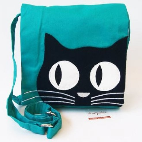 Fair trade messenger shoulder bag Kitty in cotton