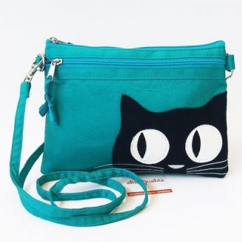 Fair trade small shoulder bag Kitty in cotton