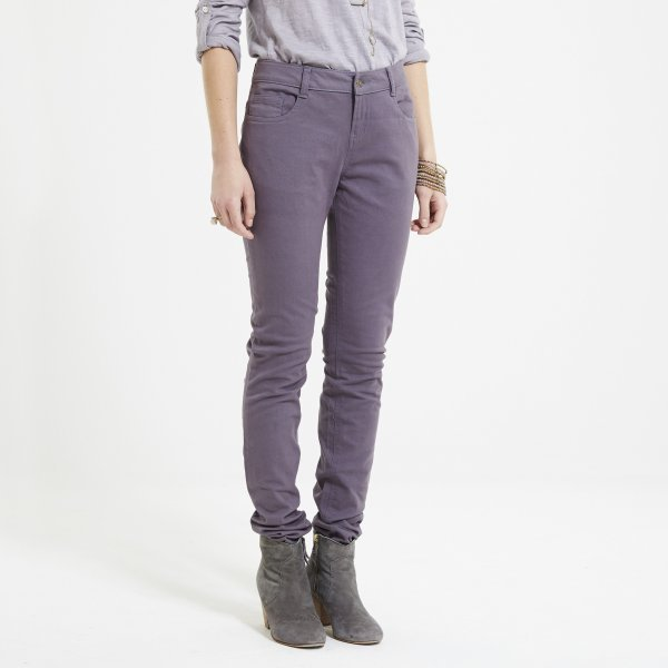 Fairtrade cotton coloured skinny jeans