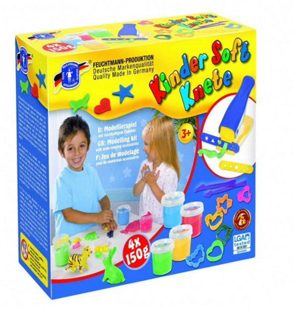 Farm soft play dough - 4 pots