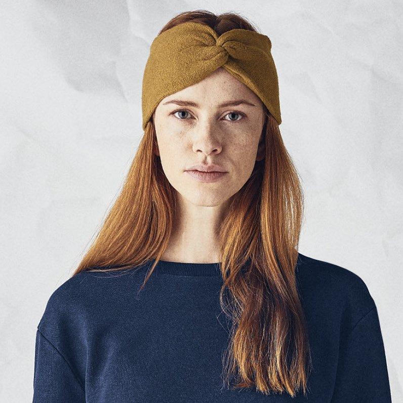 Fascia per la testa a maglia in canapa