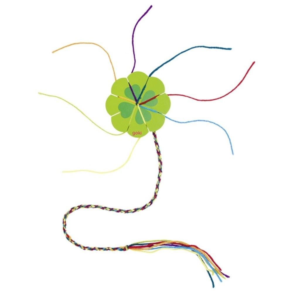 Fiore e Quadrifoglio da cucito in legno naturale