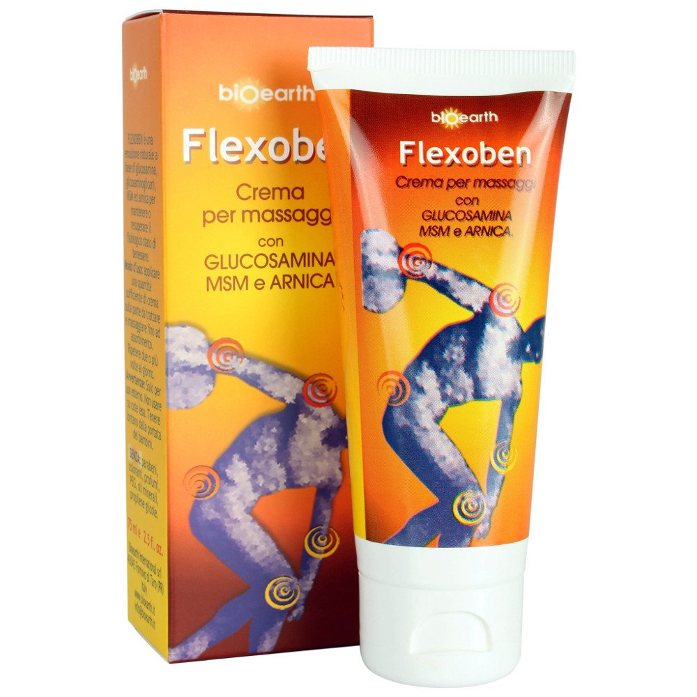 Flexoben crema per massaggi con glucosamina msm e arnica