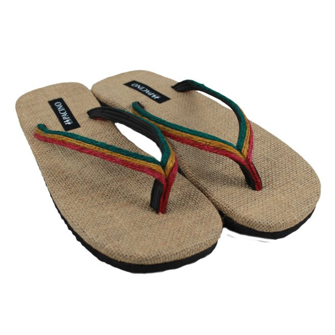 Flip-flops in hemp Rasta