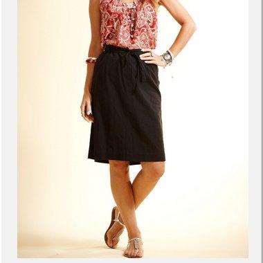 Plain skirt in fair trade cotton