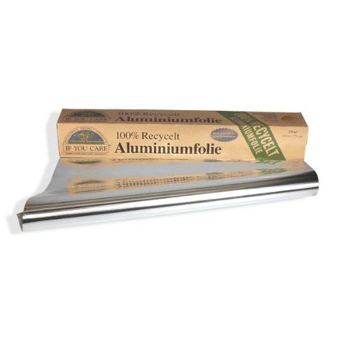 Foglio Alluminio per alimenti ecologico riciclato IF YOU CARE
