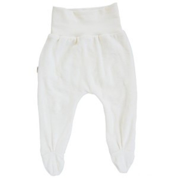 Footed pants for newborn made from organic cotton chenille