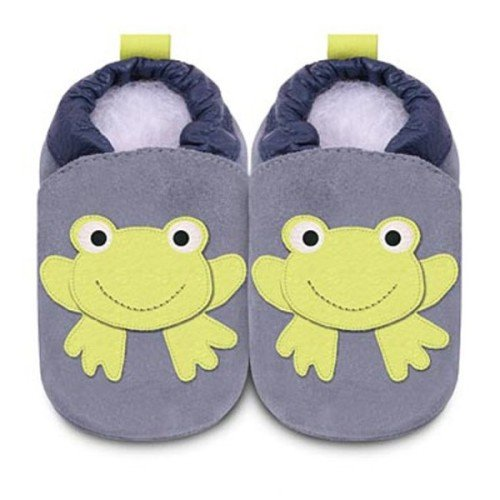 Frog soft sole leather baby shoes