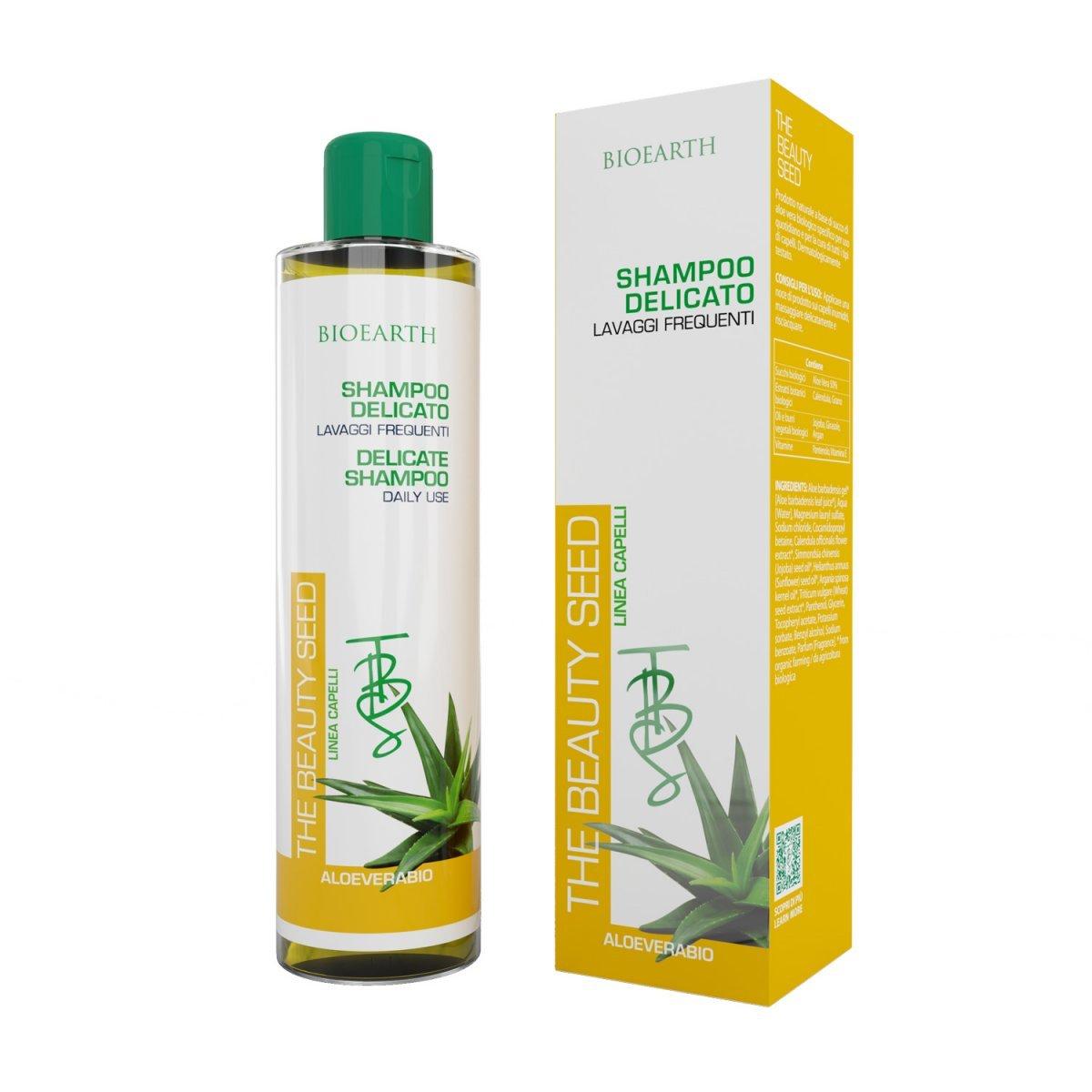 Shampoo delicato all'Aloe lavaggi frequenti The Beauty Seed