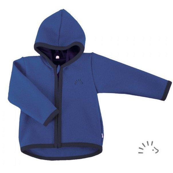 Giacca in lana cotta Blu Popolini  in pura lana merino biologica