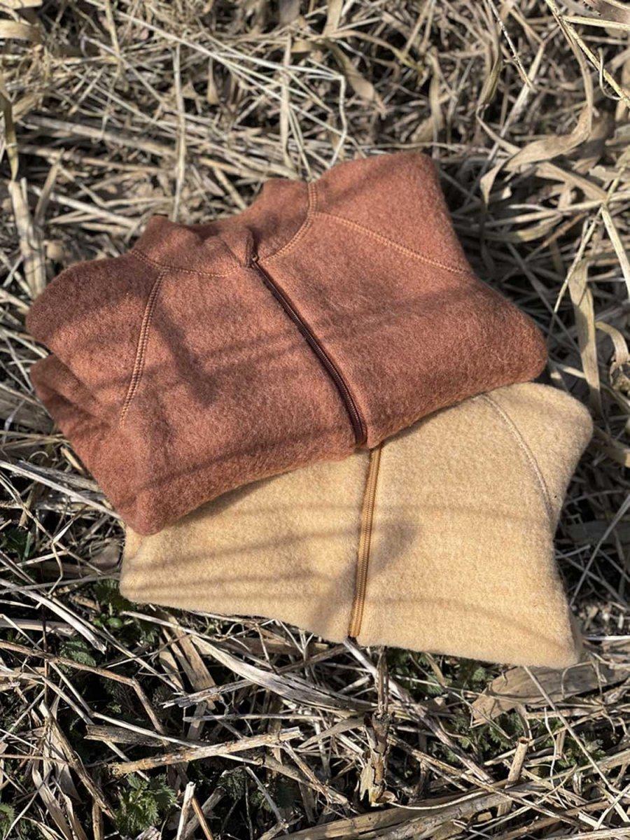 Giacchina Softwool per neonati in pile di pura lana naturale
