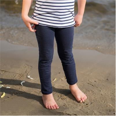 Girl navy blue leggings