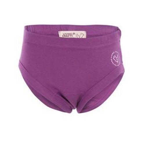 Girl's slip purple in organic cotton