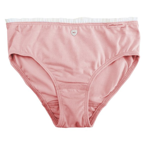 Girl pink slip with lace in organic cotton.