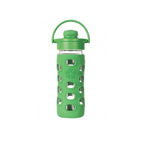 Glass bottle with flip cap 350 ml