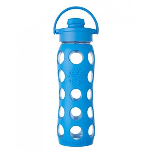 Glass bottle with flip cap 650 ml