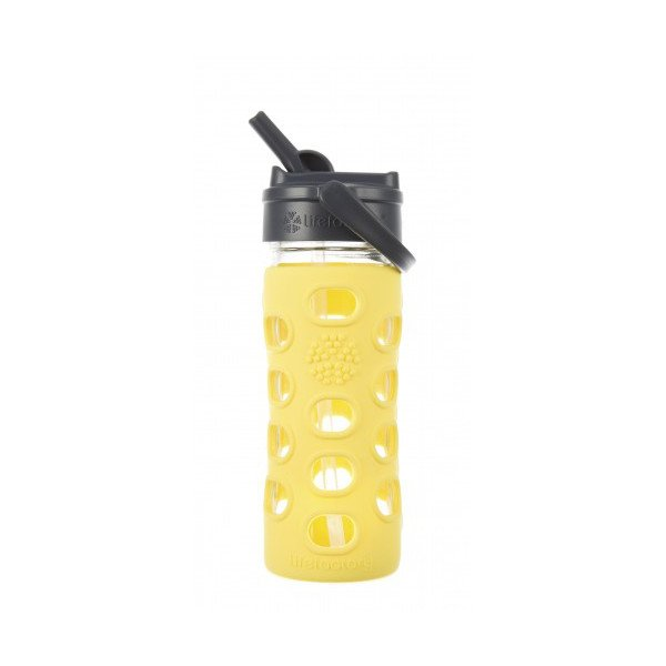Glass bottle with straw cap 350 ml