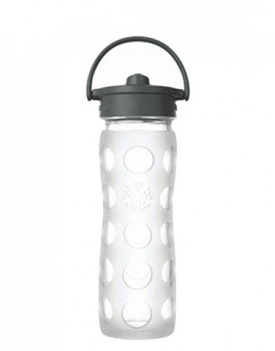 Glass bottle with straw cap 475 ml