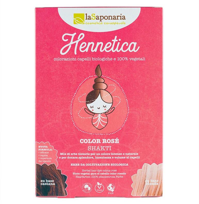 Hennetica tinta vegetale Bio Shakti - color rosé
