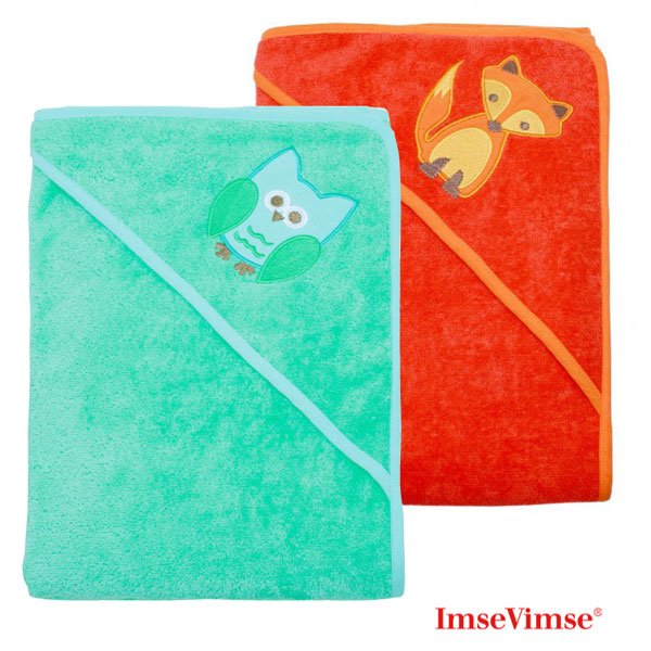 Hooded towel in organic cotton and bamboo ImseVimse