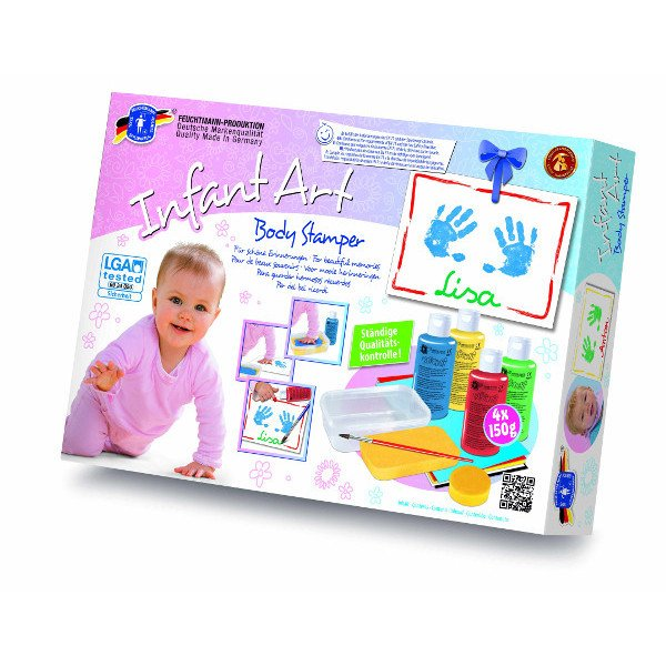 Infant art body stamper