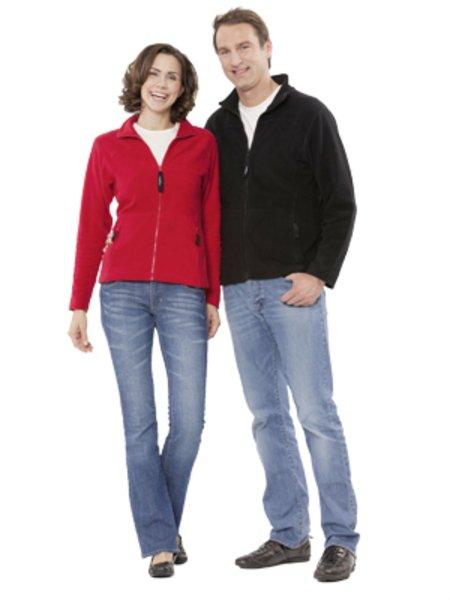 Jacket with zip in organic cotton fleece