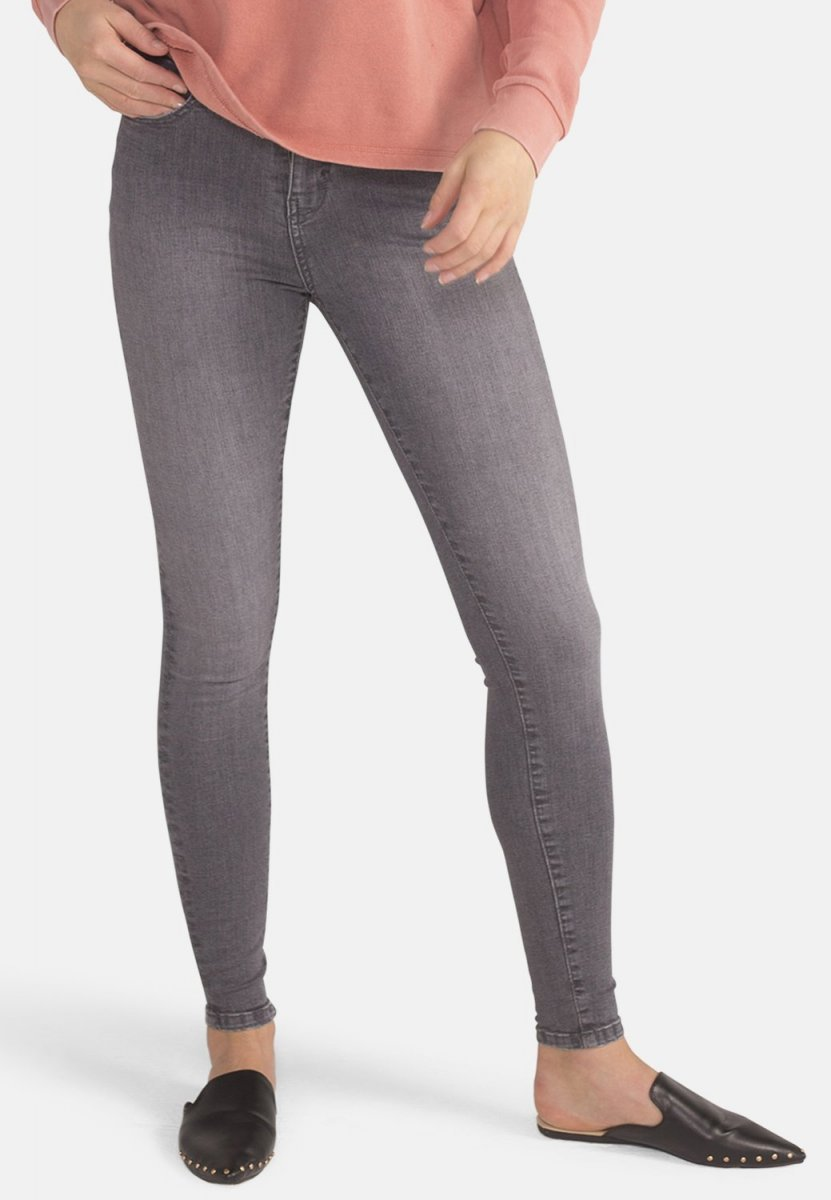 Jeans Jane Skinny Light Grey vita alta cotone biologico