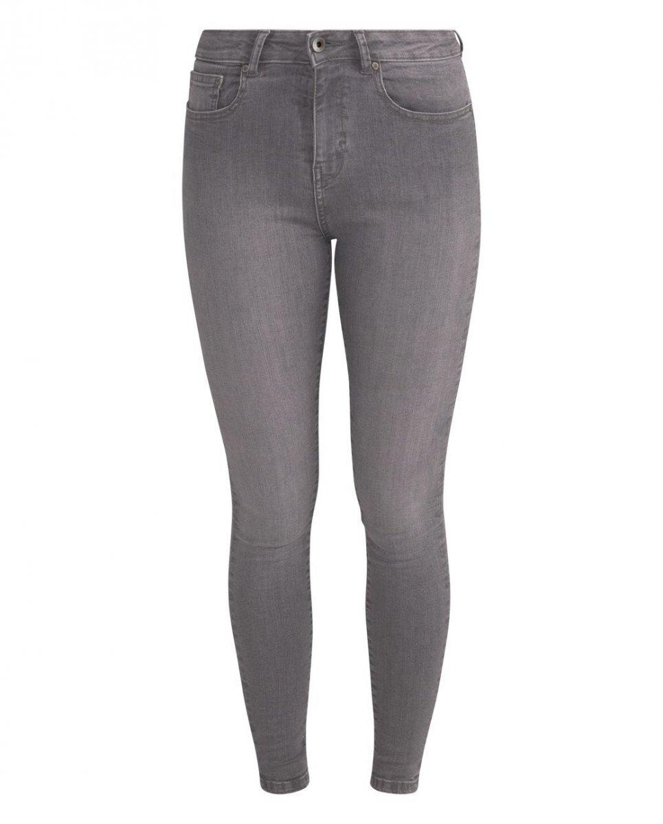 Jeans Jane Skinny Light Grey vita alta cotone biologico