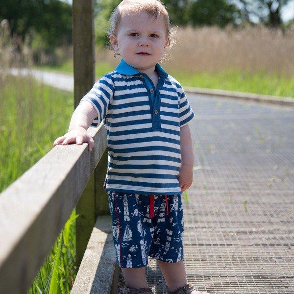 Jogger stripy boy in organic cotton