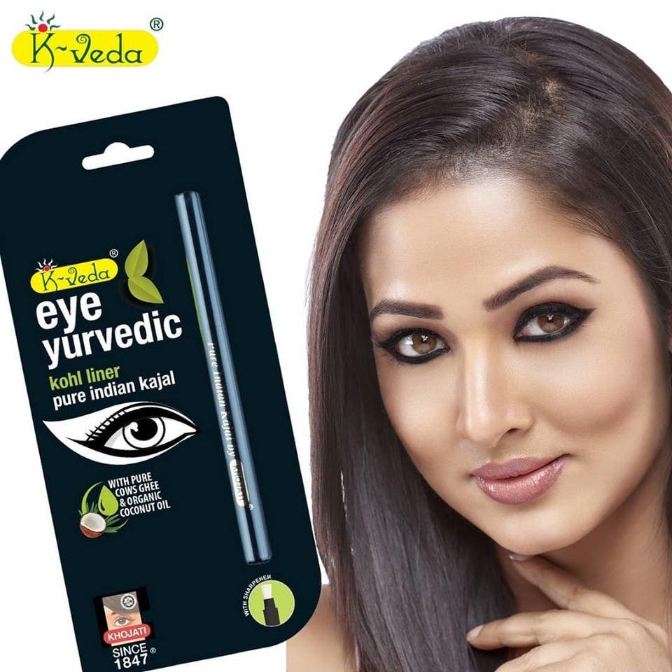 Kajal Ayurvedic naturale Fine - NERO Glitter