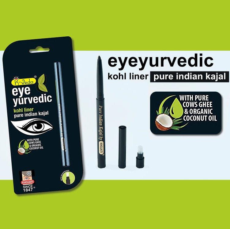 Kajal Ayurvedic naturale Fine - NERO